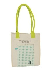 big girl boots canvas tote