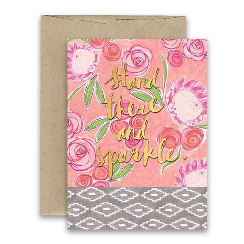 Stand sparkle greeting card freshly painted curly girl design stand sparkle greeting card freshly painted m4hsunfo