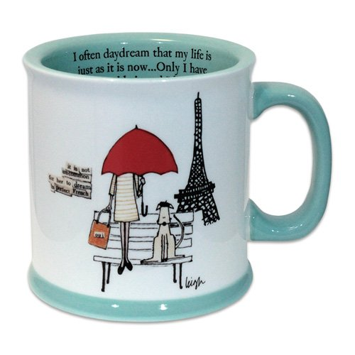 live in paris mug curly girl design. Black Bedroom Furniture Sets. Home Design Ideas
