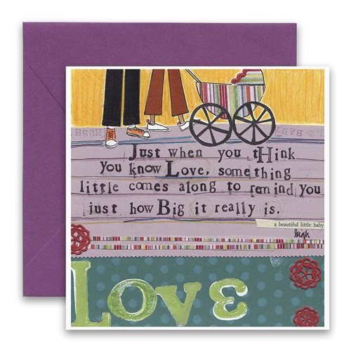 Baby love greeting card curly girl design baby love greeting card m4hsunfo Images