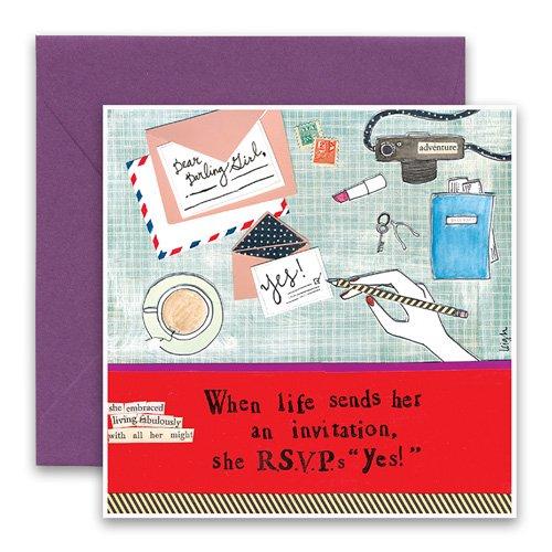 Rsvp greeting card curly girl design rsvp greeting card m4hsunfo