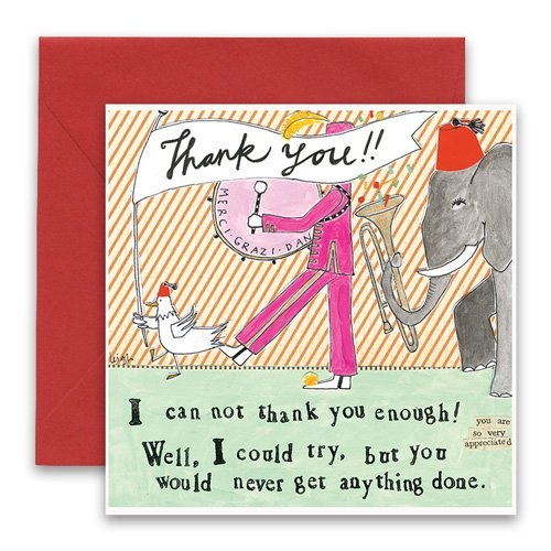 Thank you greeting card curly girl design m4hsunfo