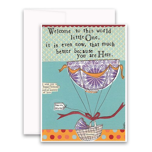 Welcome to the world greeting card curly girl design welcome to the world greeting card m4hsunfo