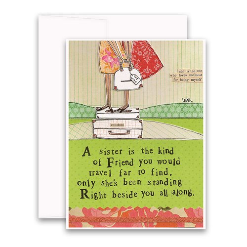Sister greeting card curly girl design m4hsunfo