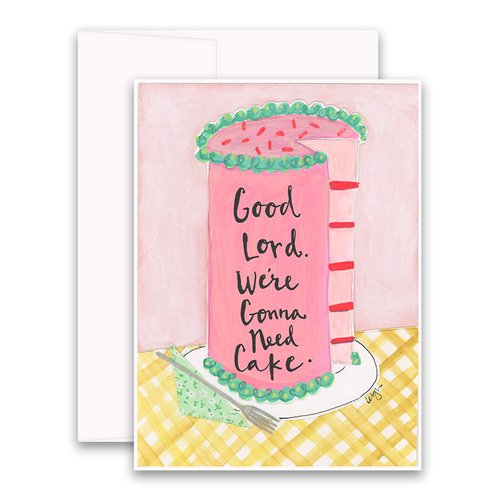 Gonna need cake greeting card curly girl design gonna need cake greeting card m4hsunfo