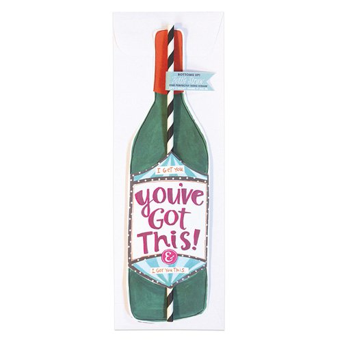 You Ve Got This Bottle Straw Card Curly Girl Design