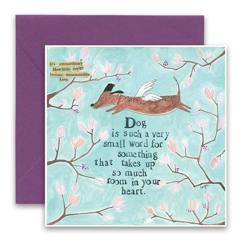 Dog is a small word greeting card curly girl design dog is a small word greeting card m4hsunfo