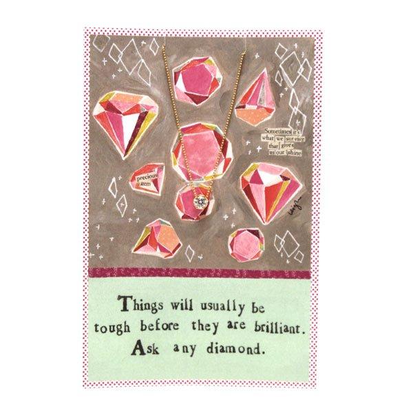 Diamond Gold Necklace Card