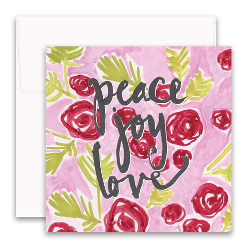 Peace Joy Love Enclosure Card