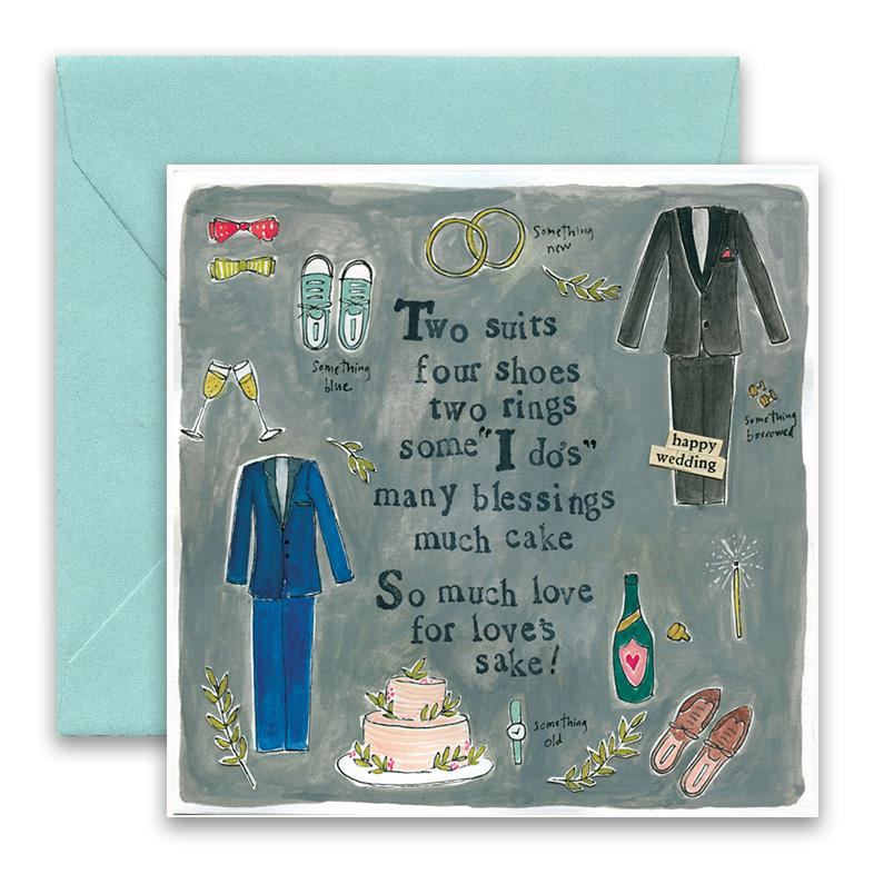 Two Suits Greeting Card