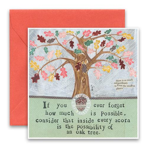 Oak Tree Greeting Card