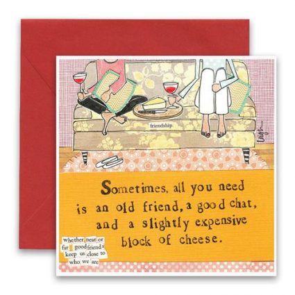 Block Of Cheese Greeting Card