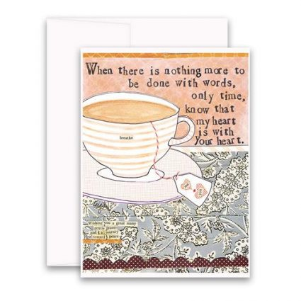With Your Heart Greeting Card