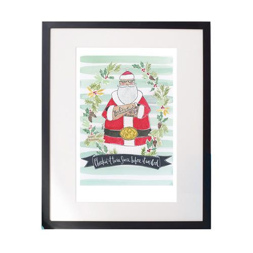 Hipster Claus Matted Print