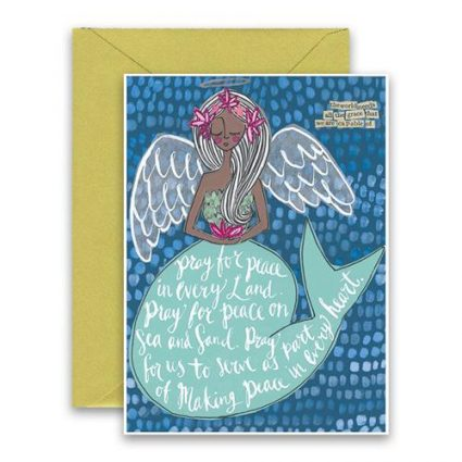 Pray For Peace Holiday Card
