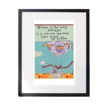 Welcome Little One Matted Print