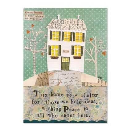 Home Is A Shelter Canvas