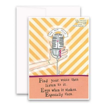 Find Your Voice Greeting Card