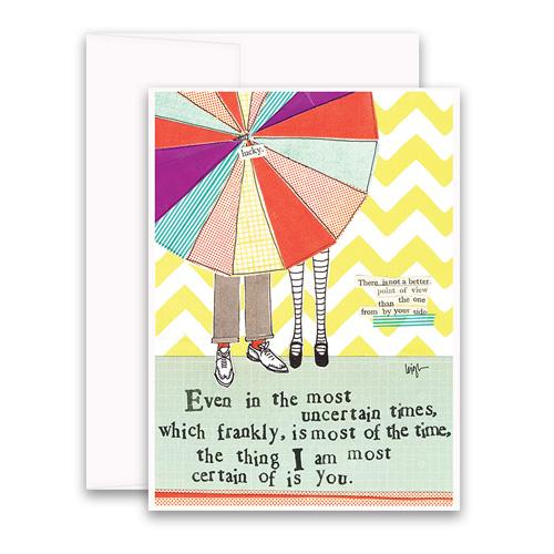 Certain Of You Greeting Card