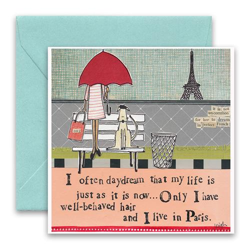Live In Paris Greeting Card