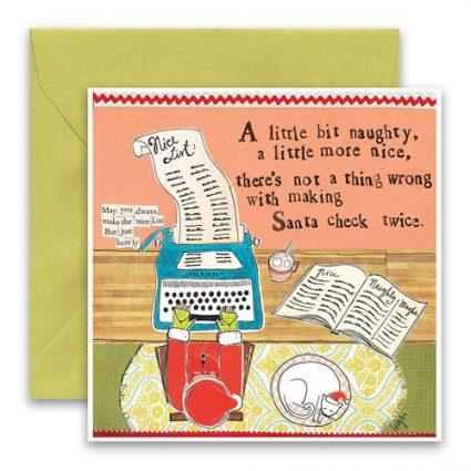 Santa's List Holiday Card