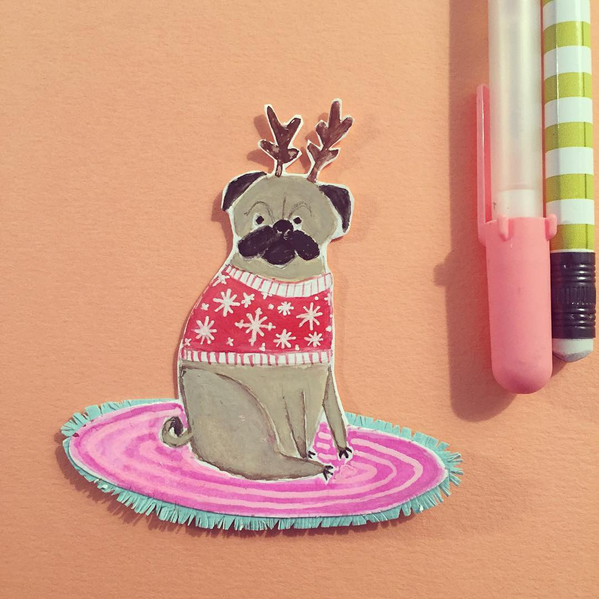 Pug Holiday Listpad