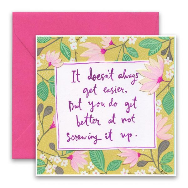 Screwing It Up Greeting Card