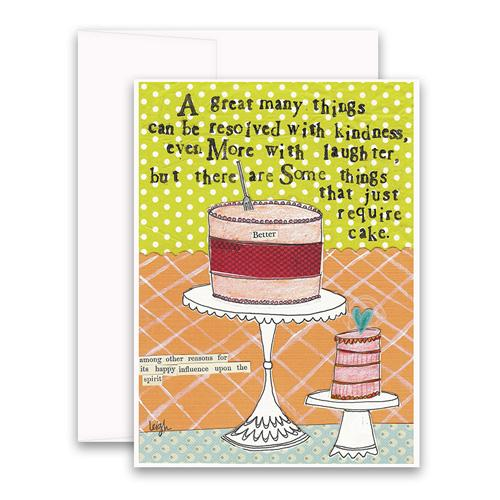 Require Cake Greeting Card