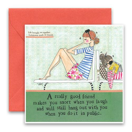 Snort In Public Greeting Card