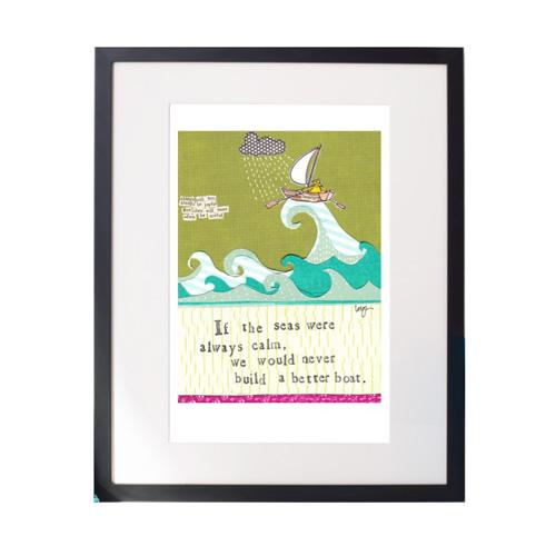 Better Boat Matted Print