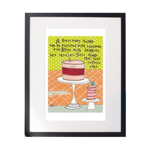 Cake Required Matted Print