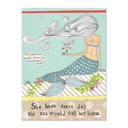 Mermaid Heart Magnet