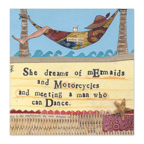 Mermaids & Motorcycles Canvas