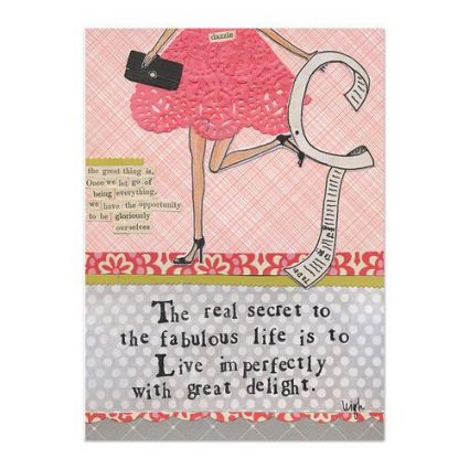 Live Imperfectly Canvas