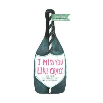 Miss You Wine Split Straw Card