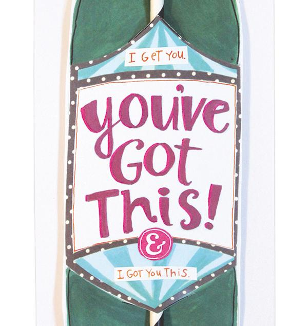 You'Ve Got This Wine Straw Card