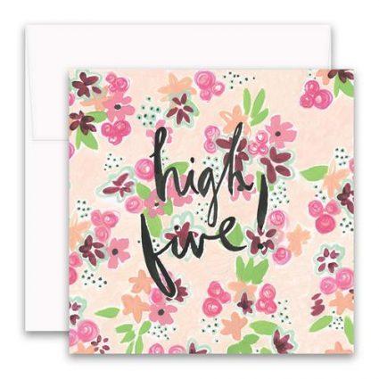 High Five Enclosure Card