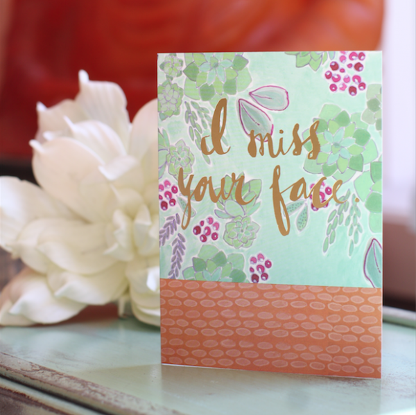 Love You. Mean It. Greeting Card (Freshly Painted)