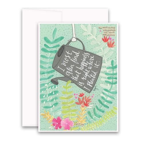 Right Where I Planted It Greeting Card