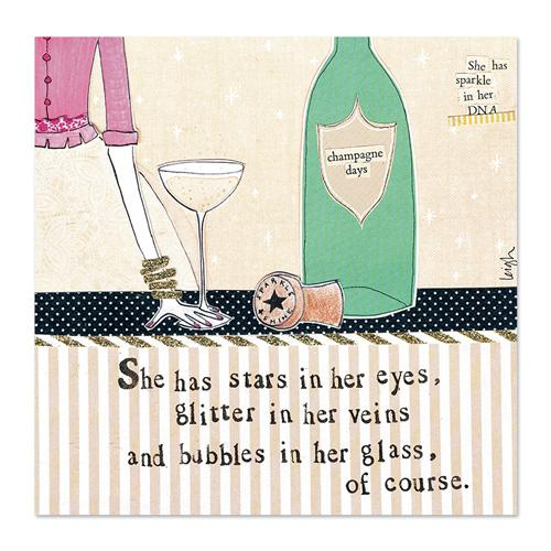 Bubbles In Her Glass Canvas