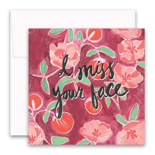 Miss Your Face Enclosure Card