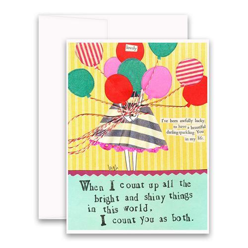 Bright & Shiny Things Greeting Card