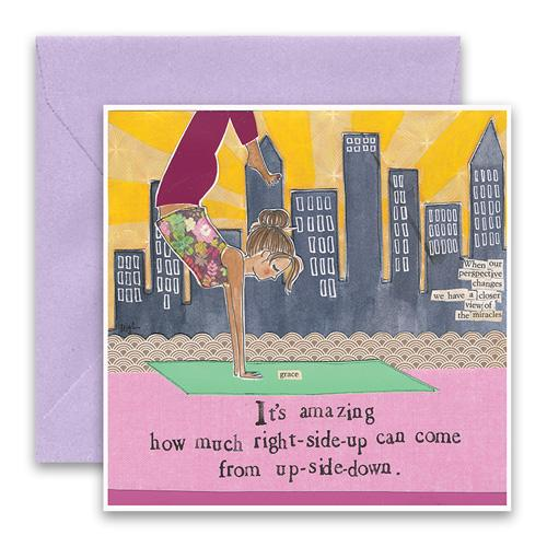 Up-Side-Down Greeting Card