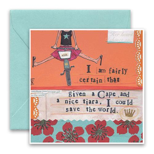 Cape & Tiara Greeting Card