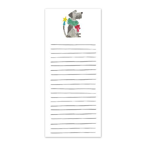 Grey Pup Holiday Listpad