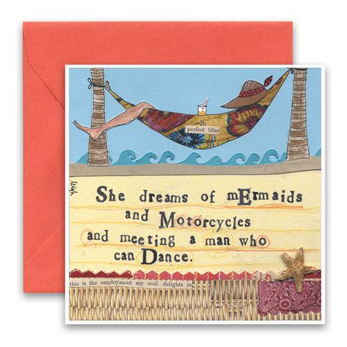 Mermaids & Motorcycles Greeting Card