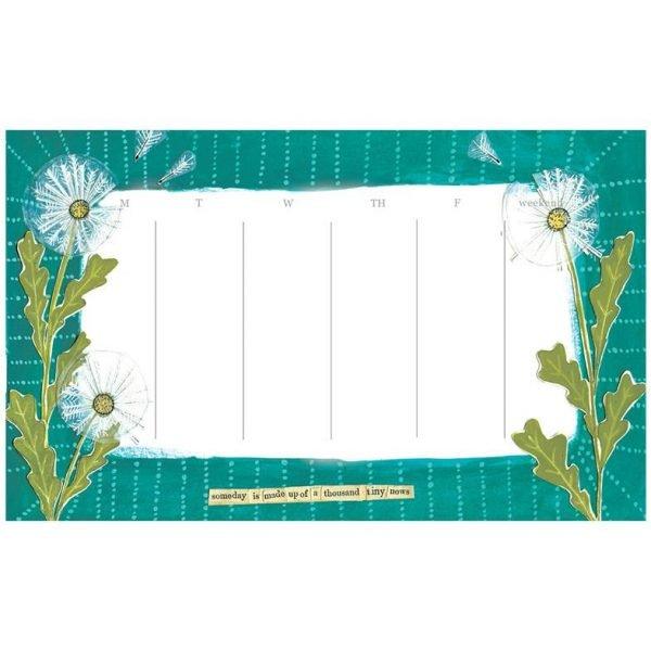 Dandelion Weekly Calendar Pad