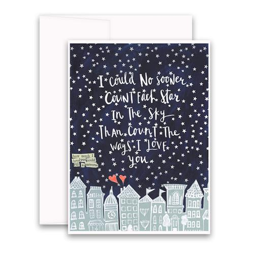 Count All The Stars Greeting Card
