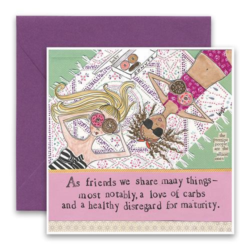 Love Of Carbs Greeting Card
