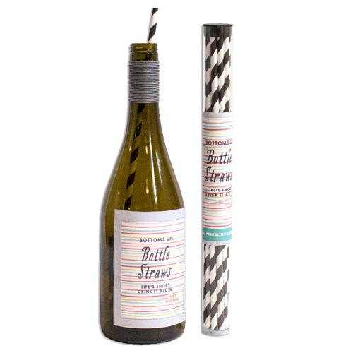 Striped Wine Straw Pack
